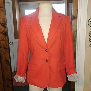 Coral Red Blazer